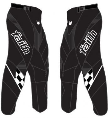Faith Race Pants Black/White Adult